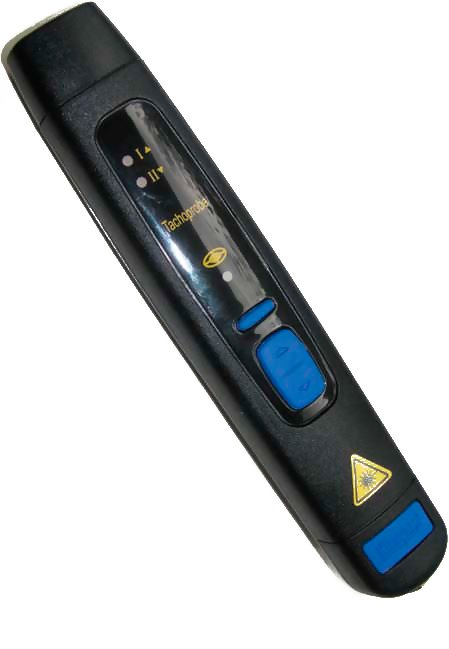 Compact A2108-LSR Laser Tachometer with Analog Output
