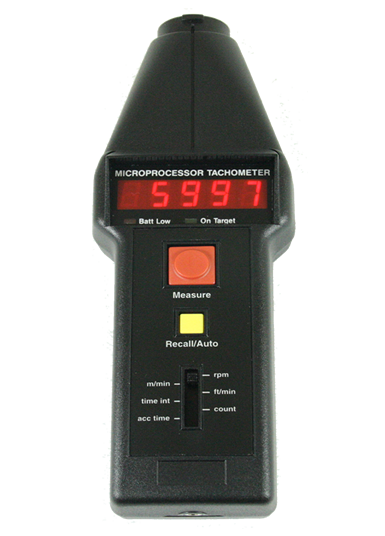 CT6 Optical/Contact Handheld Tachometers with LED display