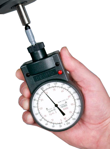 MT-200 Mechanical Handheld Tachometer, Measuring Ranges: 16-200 / 160-2,000 / 1,600-20,000 rpm